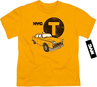 New York City Yellow Cab Unisex Youth T Shirt for Boys and Girls