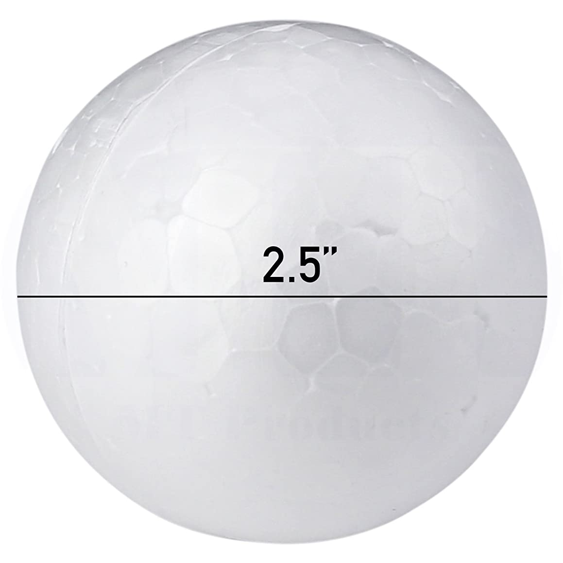 Smooth White Craft Foam Polystyrene Round Balls by MT Products (2.25 Inch) (18 Pieces)