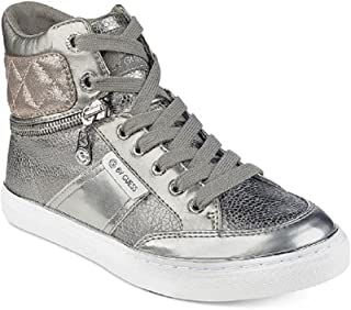 G by GUESS Womens Ombae High-Top Fashion Sneakers Pewter 10 M US
