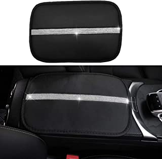 Auto Center Console Pad, Forala Car Leather Crown Center Console Decoration Cover Cushion