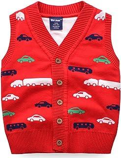 (ラクエスト) Laquest ベスト チョッキ 車柄 自動車柄 前開き ボタン 通園 通学 子供 キッズ ジュニア ボーイズ