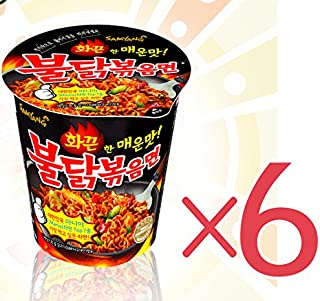 Samyang Fried Spicy Chicken Noodle 70g 6 Cups Korea Best Instant Ramen Set! by Samyang