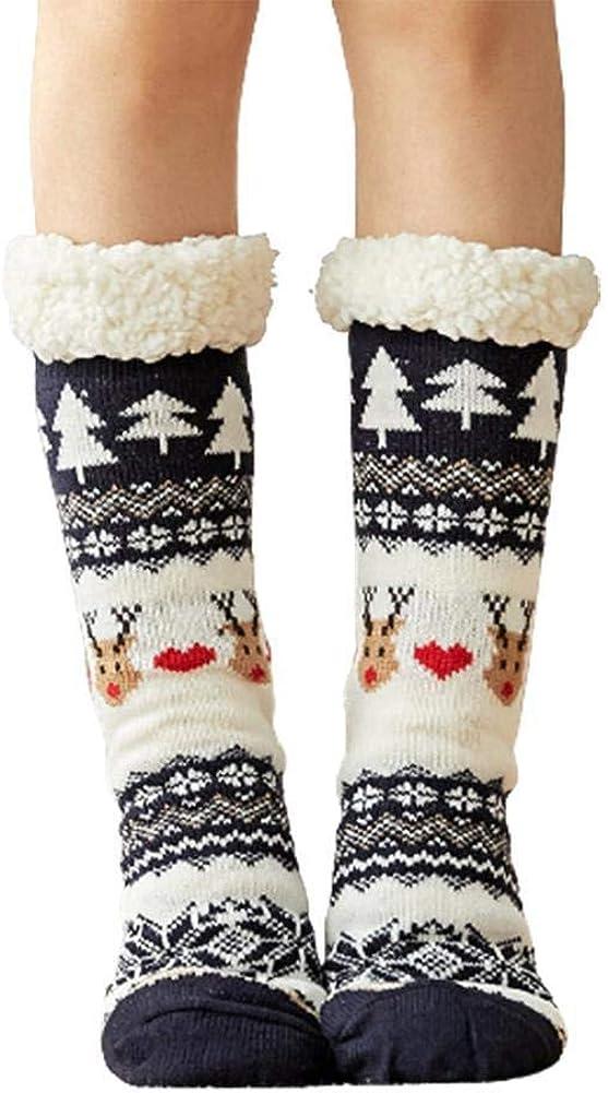 Virginia Beach Mall trend rank Women's Winter Thicken Anti-slip Warm Pl Fuzzy Socks Fleece Deer