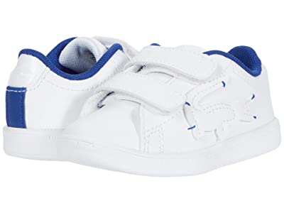 Lacoste Kids Carnaby Evo 0320 1 SUI (Toddler/Little Kid) (White/Dark Blue) Kid