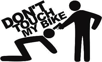 Folistick Dont Touch My Bike Pistole Aufkleber Dub Oem Motorrad Aufkleber Schwarz Auto