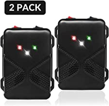Loraffe Pack of 2 LED Rodent Strobe Light Battery Operated Ultrasound Device Keep Rats Mice Away from Your Car Engine Truck Garage Attic Basement Warehouse Barn Shed Under Hood Vehicle Protection