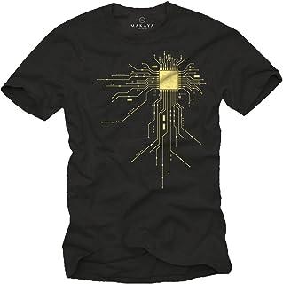 MAKAYA Regalo Friki - Camiseta para Hombre - CPU
