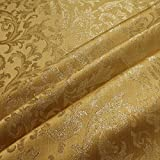 Stoff Polyester Jacquard Ornament gold gold Lurex