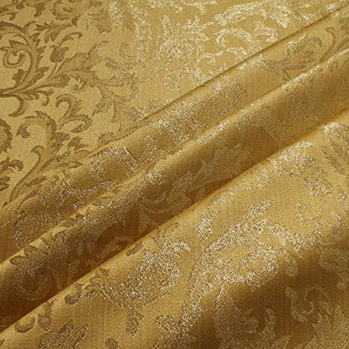 Stoff Polyester Jacquard Ornament gold gold Lurex Goldbrokat Barock Rokoko 300
