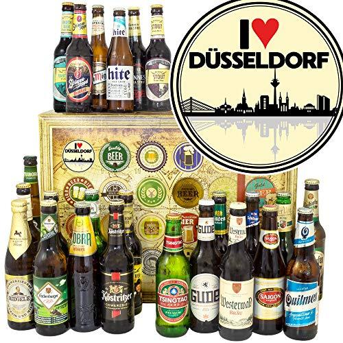 I love Düsseldorf/Bierset Welt und DE/Düsseldorf Geburtstagsüberraschung/Bier Geschenk Adventskalender