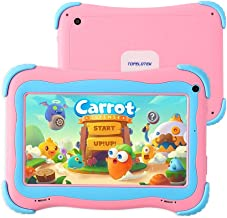 Tablet for Kids, 7 inch Kids Tablet Android 1GB +16 GB Learning Tablet,IPS Eye Protection,Dual Cameras WiFi GMS Certified Kids-Proof Toddler Tablets Parent Control,Google Play Store (Pink)