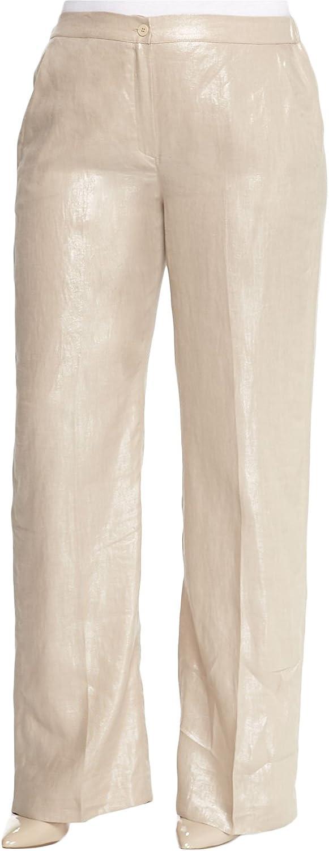 Marina Rinaldi Women's Regia Shimmer Pants Beige