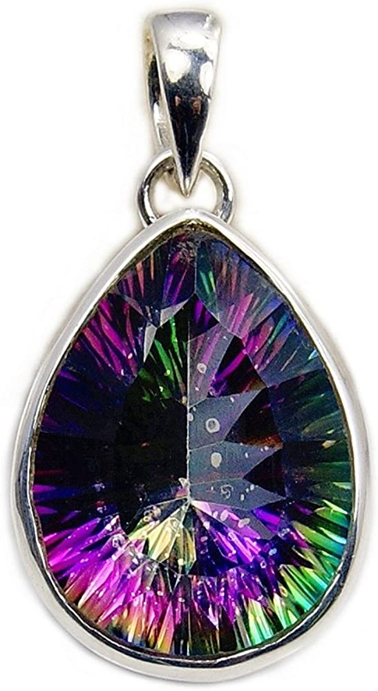 'Dancing Lights' free Sterling Silver Mystic OFFicial store Topaz Pendant