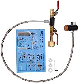 充填ソーダストリームタンク用ホース付きG1 / 2 CO2シリンダー詰め替えアダプターボトルコネクタCO2タンクソーダメーカーアクセサリー(36インチゲージ)