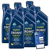 6x 1 L Liter ARAL SuperTronic Longlife III 3 5W-30 Motoröl inkl. Ölwechselanhänger