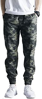 MUST WAY Men's Causal Twill Chino Jogger Pants Running Sports Trousers
