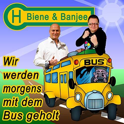 Wir werden morgens mit dem Bus geholt