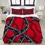 1203 - Juego de ropa de cama, diseño de calavera y Halloween