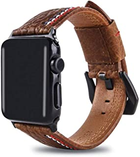 ZHAXAOO AU The new grade suitable apple watch leather band iwatch three lines leather strap