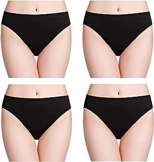 wirarpa Women's 100% Cotton Soft Briefs Underwear High Cut Ladies Panties Multipack