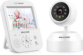 Video Baby Monitor with Camera, HD Night Vision, Two-Way Talk, Wall Mounted, Remote Pan Tilt Camera and 3.5inch HD IPS Screen