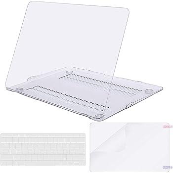 MOSISO Funda Dura Compatible con MacBook Air 13 Pulgadas (A1369 / A1466, Versión 2010-2017), Carcasa Rígida de Plástico & Cubierta de Teclado (USA Versión) & Protector de Pantalla, Claro/Cristal