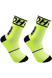 DH013 Calze da Ciclismo allaperto alla Moda Confortevoli Uomo Donna Calze Sportive Traspiranti Professionali Calze da Basket Jasnyfall Pink /& Blue