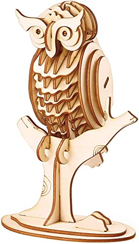 new arrival Rolife Build Your Own 3D Wooden Assembly Puzzle Wood popular online sale Craft Kit Owl Model online sale
