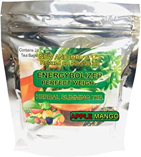 Energybolizer Perfect Weight Herbal Slimming Tea APPLE MANGO FLAVOR. All Natural colon cleanse and complete digestive supp...
