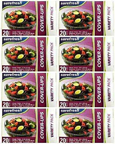 SureFresh Cover-Ups Food Covers, Elastic Stretch-to-Cover Variet