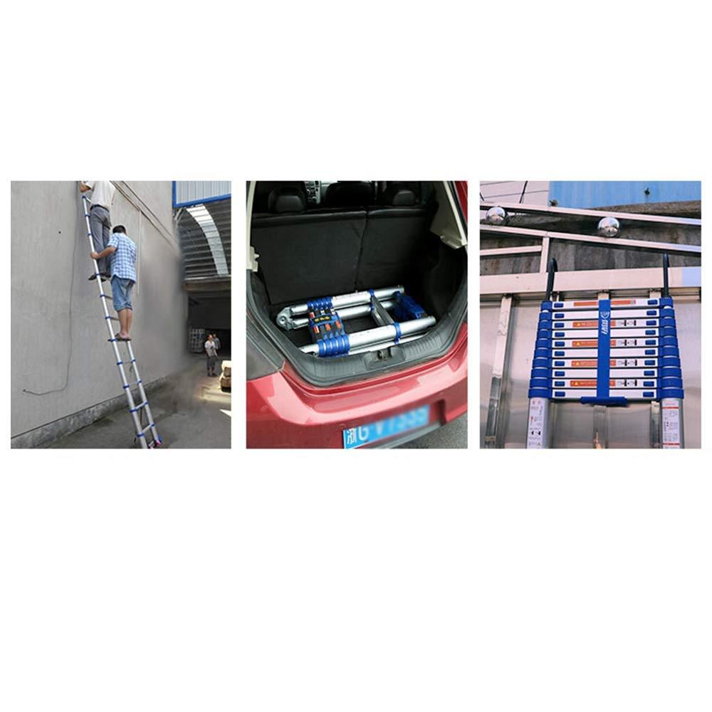 XSJZ Escaleras Telescópicas, 16 Pasos 6.15 Metros de Largo con Ganchos Escalera Telescópica Estable Aluminio Ligero Y Fácil de Transportar Construcción Pesada Ingeniería Escalera Escalera Plegable: Amazon.es: Hogar