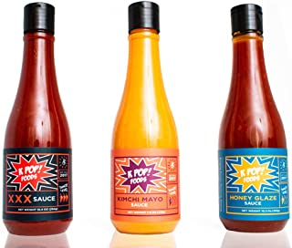K-TOWN Korean Sauce Variety 3-Pack Includes: Super Spicy Chili Sauce, Kimchi Spicy Mayo, and Honey Chili Sauce Using Authentic Gochujang Korean Chili Paste, 32.3oz from KPOP Foods