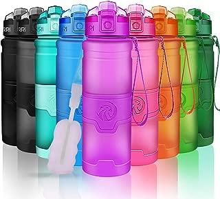 DOUHE 600 ml Camping Tapa a Prueba de Polvo Botella de Agua Deportiva Tritan 100/% sin BPA Botellas de Agua para Senderismo al Aire Libre