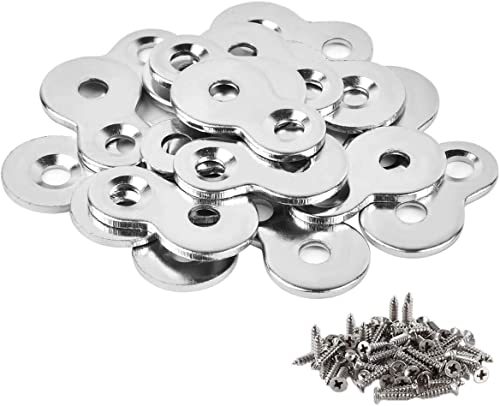 30 Pack Figure 8 Steel Desk Top Fastener Clip with Screws - Heavy Duty Figure-Eight Fasteners Clips Attaching a Table...