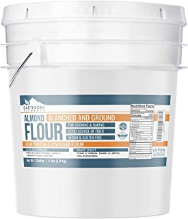 Almond Flour, 1 Gallon Bucket (4 LBS) by Earthborn Elements, Additive & Gluten-Free, Blanched, Ground, Vegan, Paleo & Keto Friendly, Strong Resealable Bucket
