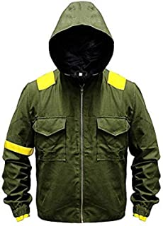 Mens/Boys Green Cotton Hoodie Pilots Levitate Jumpsuit Bomber Jacket