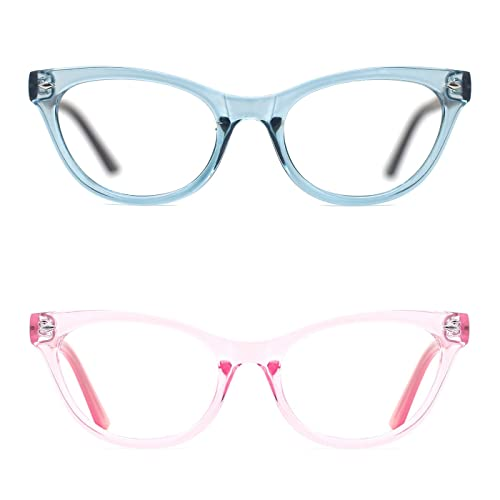 510c1a12ec TIJN Super Inspired Mod Fashion Cat Eye Glasses Clear Color Translucent Eyewear  Frame