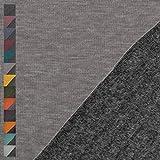 Alpenfleece Alfons, meliert, grau (25cm x 145cm)