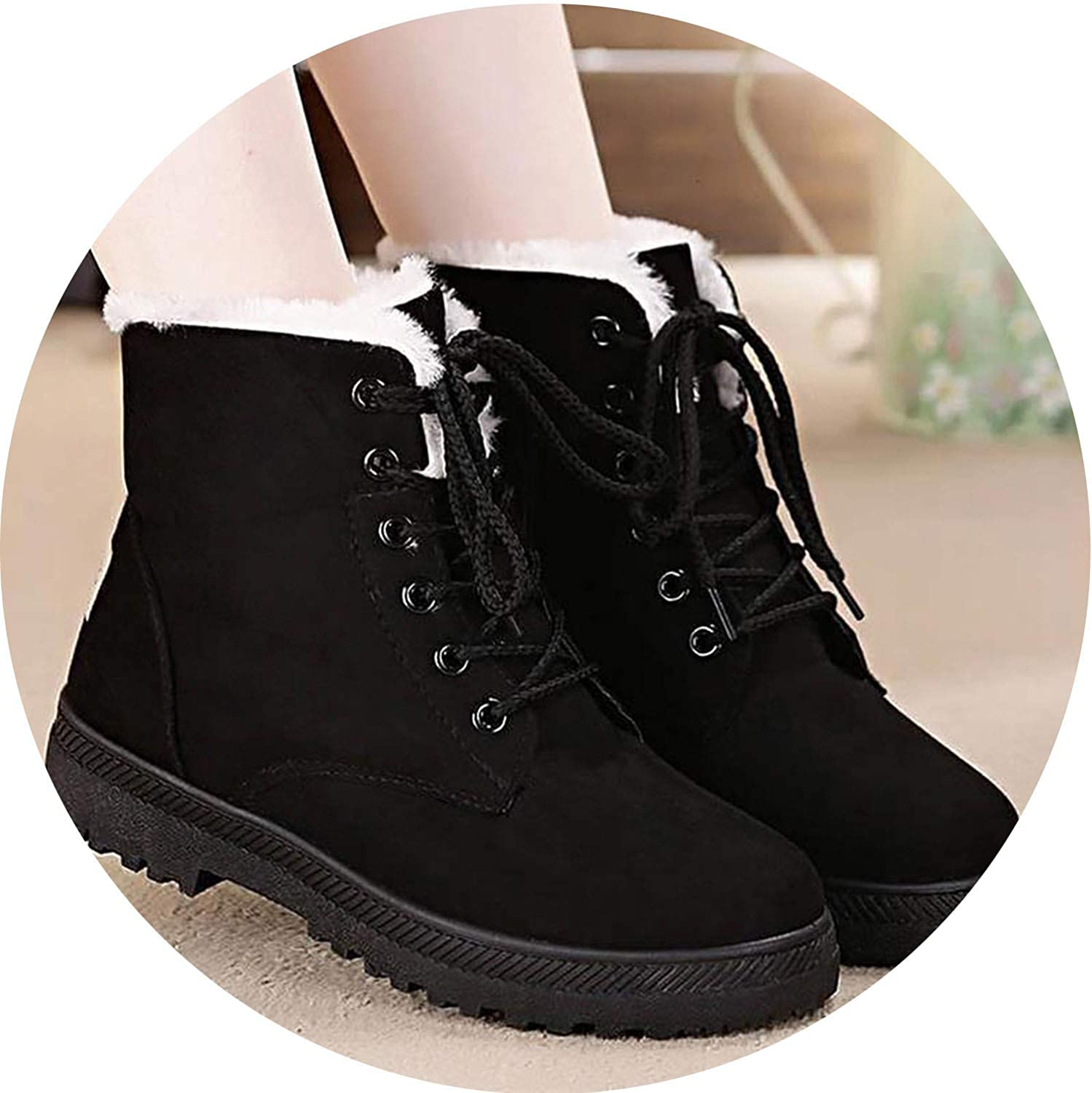The small cat Snow Boots 2018 Classic Heels Suede Women Winter Boots Warm Fur Plush Insole Ankle Boots Women shoes