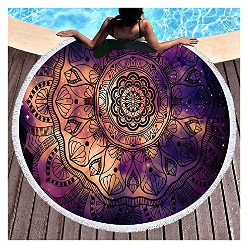 LSXLSD Mandala Ronda De Toallas De Playa Verano Geométrica Gruesa Toalla De Ducha De Baño Círculo 150cm Playa Yoga Mat A Serviette De Plage (Color : Pattern 7)
