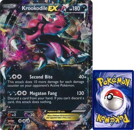 Pokemon Krookodile EX Jumbo Übergroßen Karte # xy-25Karte (selten/Holo-foil/Promo) von Box