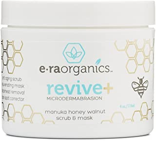 Microdermabrasion Facial Scrub & Body Exfoliator - Natural Face & Body Scrub Exfoliator with Manuka Honey & Walnut - Moisturizing Facial Exfoliant for Dull Dry Skin, Wrinkles & Blemishes Era-Organics