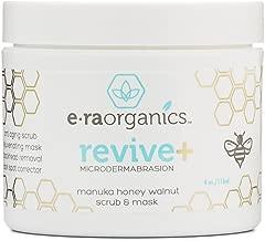 Microdermabrasion Facial Scrub & Body Exfoliator - Natural Face & Body Scrub Exfoliator with Manuka Honey & Walnut - Moisturizing Facial Exfoliant for Dull Dry Skin, Wrinkles & Blemishes Era-Organics