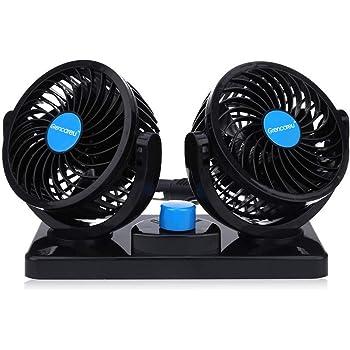 : KanCai Ventilateur de voiture, 12V doubles têtes
