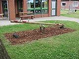 4.4.3.3065: prod. in Deutschland - Kinder- Holzwippe - für 4 Kinder - Garten-Holzwippe 4 Kinder - Wippen im Freien - Kinder-Wippe