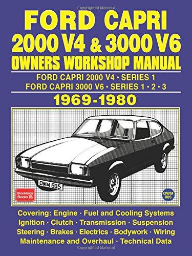 Ford Capri 2000 V4 & 3000 V6 OWNERS WORKSHOP MANUAL 1969-1980