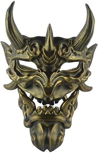 Disfruta de un 50% de descuento. Máscara Máscara Máscara Máscara Ornamento Colgante Máscara Resina Fantasma Cara Colmillo Máscara (Color   oro Bronze)  para proporcionarle una compra en línea agradable