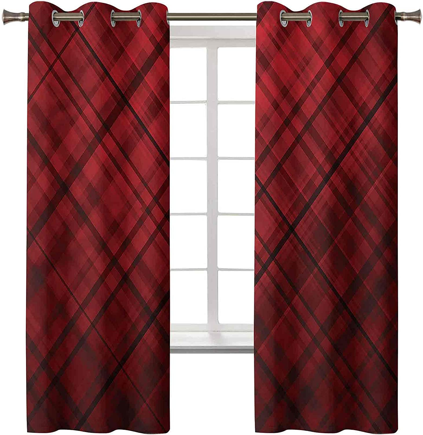 3D Printed Blackout Curtains Grommet Ranking TOP20 Insulated Red Thermal and Ranking TOP17