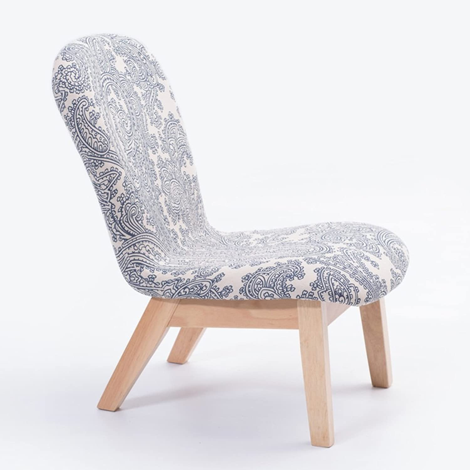 NNN- Pattern Leisure Solid Wood Stool Fabric Backrest Chair Simple Try On shoes Soft Stool Small Sofa Stool Home (Size   A)