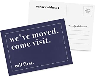 50 Moving Announcement Postcards, We've Moved Postcards, New Address, Just Moved, New Home, Change of Address Postcards